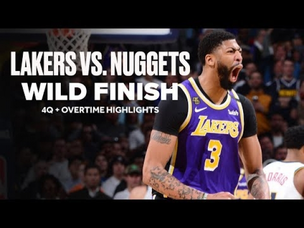 Lakers vs. Nuggets Wild Ending | Late 4Q + OT Highlights