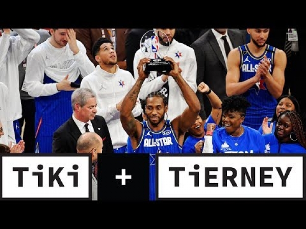 Kawhi Leonard Wins First Kobe Bryant MVP Award At The 2020 NBA All-Star Game | Tiki + Tierney